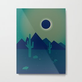 Desert Eclipse Metal Print