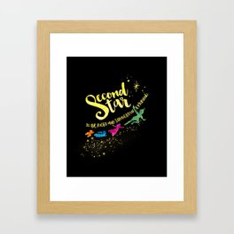 Second star to the right... Peter Pan. Framed Art Print