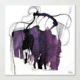 Waterink Purple Canvas Print