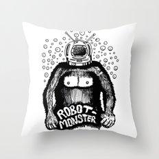Robot-Monster Throw Pillow