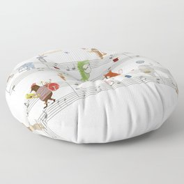 little song Floor Pillow