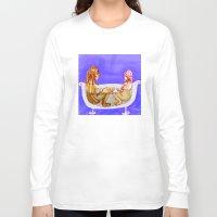 bath Long Sleeve T-shirts featuring Bath by Mottinthepot