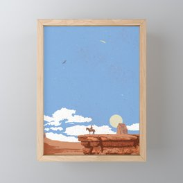 OUT WEST Framed Mini Art Print