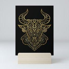 Taurus Gold Mini Art Print