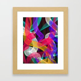 Bam Squiggle Framed Art Print