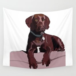 Chocolate Labrador Wall Tapestry
