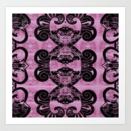 Gothic Art Nouveau Stamp Art Print