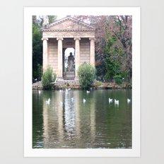 Reflection at Villa Borghese. Art Print