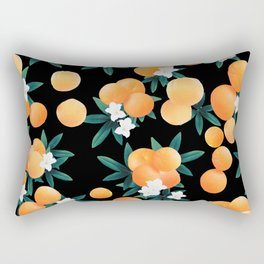 Orange Twist Flower Night Vibes #1 #tropical #fruit #decor #art #society6 Rectangular Pillow