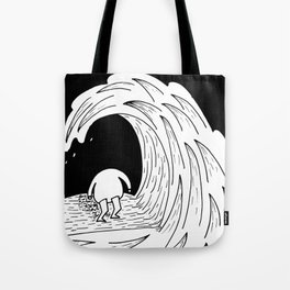Enter the wave Tote Bag