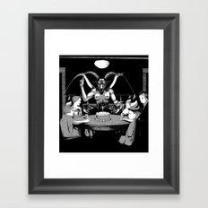 Happy Birthday Baphomet Framed Art Print