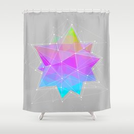 The Dots Will Somehow Connect (Geometric Star) Shower Curtain