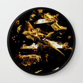 Black and Gold Tourmaline Wall Clock