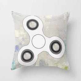 Fidget Spinner In White Throw Pillow