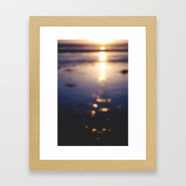 Beach Bokeh Framed Art Print