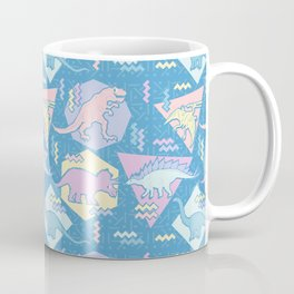 Nineties Dinosaurs Pattern  - Pastel version Coffee Mug