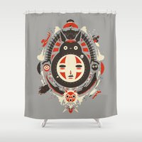 ghibli Shower Curtains featuring A New Wind by Danny Haas