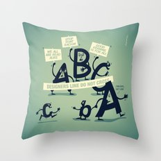 Type Rights Throw Pillow