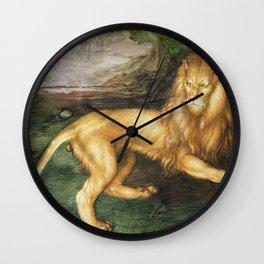 Albrecht Durer - Lion Wall Clock