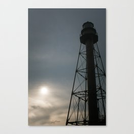 Foggy Sunrise at Lighthouse Point - Sanibel Island, Florida Canvas Print