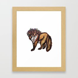 My Foxy Friend Framed Art Print