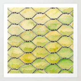 Chicken Wire Art Print