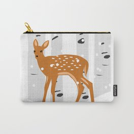Baby Deer in the snow Carry-All Pouch