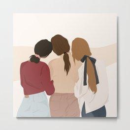Girls friendship Metal Print