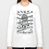 dream catcher Long Sleeve T-shirts featuring Dream catcher by DeMoose_Art