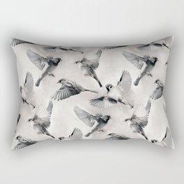 Sparrow Flight - monochrome Rectangular Pillow