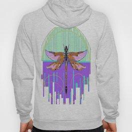 Dragonfly Dream Weaver in Aqua & Lilac Hoody