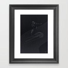 one line Silver Surfer Framed Art Print