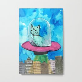 kitten alien Metal Print