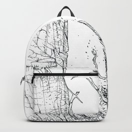 DIVING INTO THE MOUTH OF THE SEA BEAST Backpack
