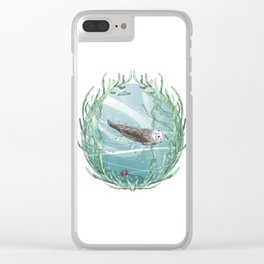 Otters Love Life Clear iPhone Case