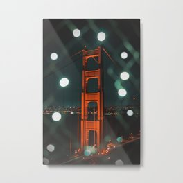 San Francisco : Golden Gate Bridge Bokeh Metal Print