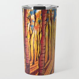 Birch Trees in the Fall Travel Mug