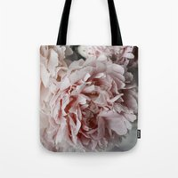 peonies Tote Bags featuring Peonies  by Pure Nature Photos
