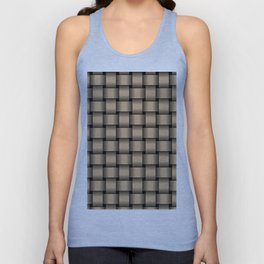 Tan Brown Weave Unisex Tank Top