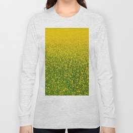 Mustard Field (of Yellow and Green) Long Sleeve T-shirt