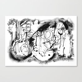 Free Your Spirit - b&w Canvas Print