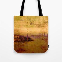 golden abstract landscape Tote Bag