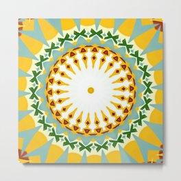 Eyecatching Sunlighter Mandala 1 Metal Print