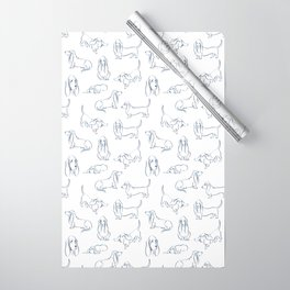 Basset Hounds Pattern Wrapping Paper