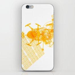 Explorer Schematic Orange On White iPhone Skin