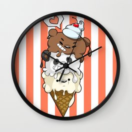 Ice Cream Bearstack Wall Clock
