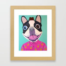 Buster The Dog Framed Art Print