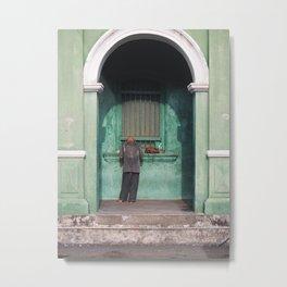 Man hiding in the street of Georgetown, Penang Metal Print