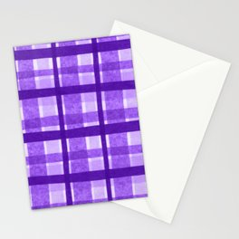 Tissue Paper Plaid - Purple Stationery Cards