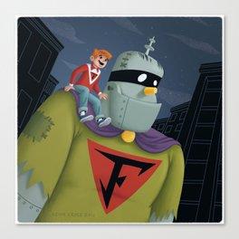 Buzz and Frankenstein Jr. Canvas Print